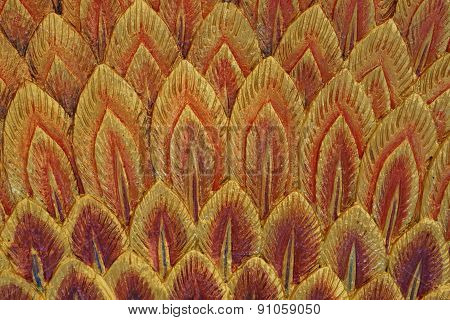 Orange Feather Stucco Texture
