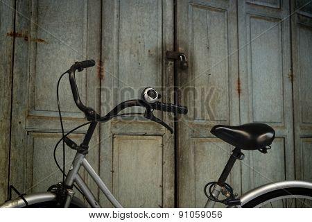 Bicycle And Wood Door