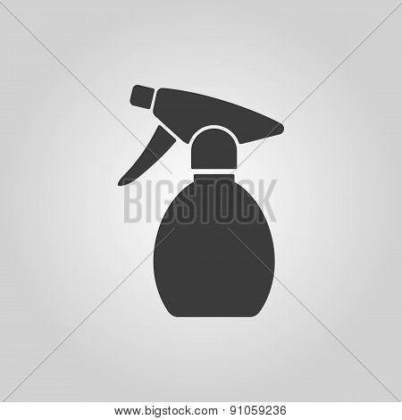 The Sprayer Icon. Atomizer Symbol. Flat