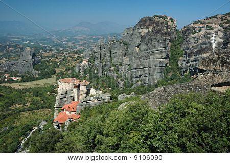 Four Rock Monasteries At Meteora,greece - Rousanou, Agios Nikolaos,grand Meteora And Varlaam