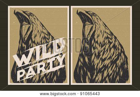 Wild Party Invitation Template.