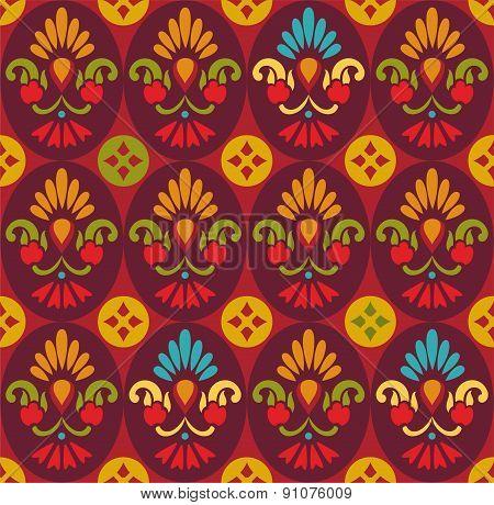 Seamless Pattern, Flowers In ...