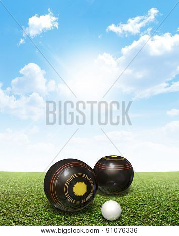 Bowls On Lawn