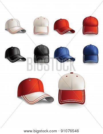 baseball caps. realistic  illustration