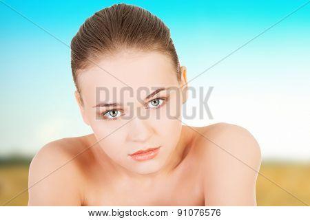 Beautiful spa woman with perfect skin.