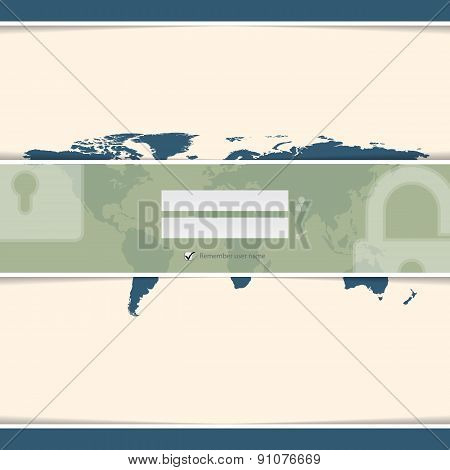 Classy Login Screen With World Map