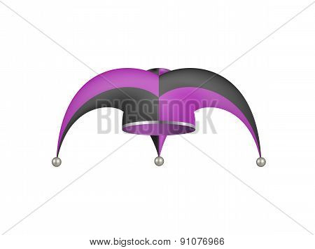 Jester hat in black and purple design