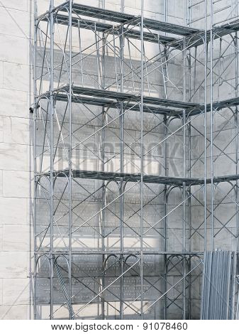 Scaffolding with building Steel construction
