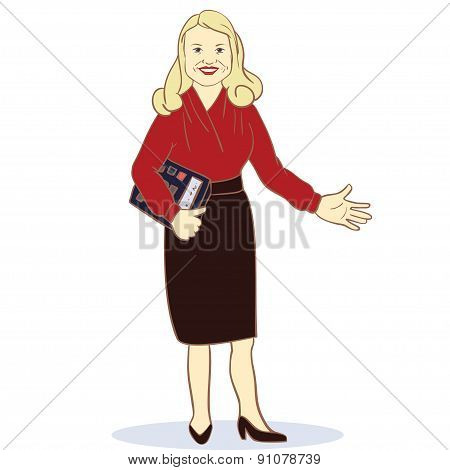 Illustration Featuring a Female Accountant