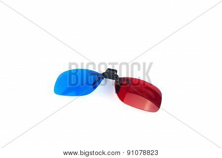 3D Eyes Glasses Clip Isolated