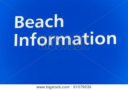 Beach information sign