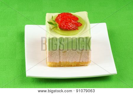 Kiwi And Strawberry Bavarian Cream Dessert
