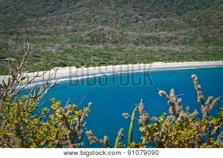 Breathtaking view of the most beautiful beach in Ecuador, Los Frailes