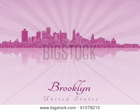 Brooklyn Skyline In Purple Radiant Orchid