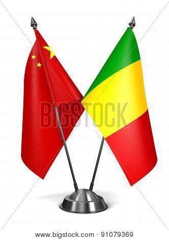 China and Mali - Miniature Flags.