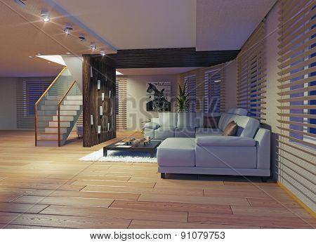 Modern living room interior. Contemporary design concept