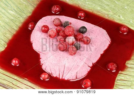Heart Shaped Wild Berries Bavarian Cream