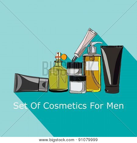 set of cosmetics for men