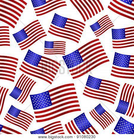 Usa National Flag Celebration Seamless Pattern Eps10