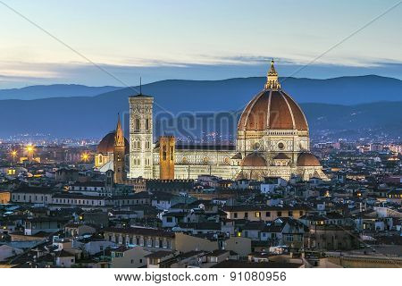 View Of Florence Cathedral, Italy