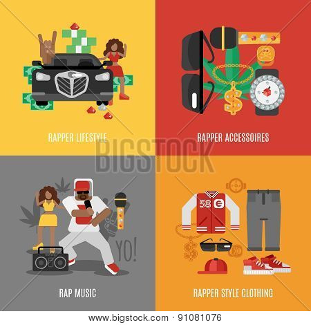 Rap Music Flat Set