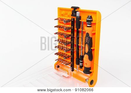 Screwdriver Tool Set Isolated