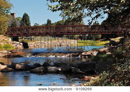 Bridge over fly fishermen