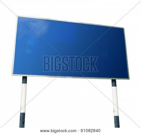 blue billboard screen
