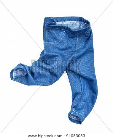 Kids Jeans Baby On The Move Isolated On White Background