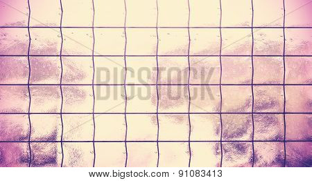 Vintage Style Background Made Of Glass With Grating.