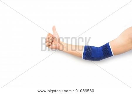 Arm With A Elbow Support Isolated