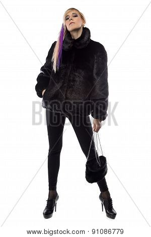 Image of arrogant woman with handbag