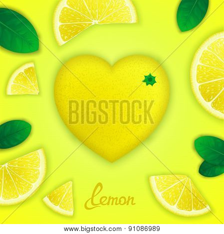 Lemon art composition