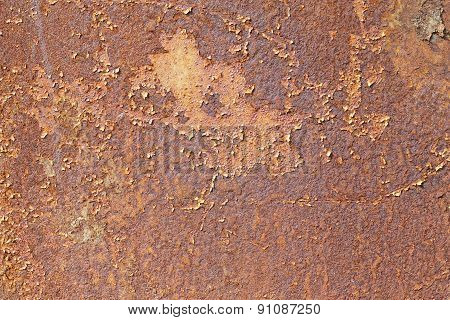 Abstract Texture Of A Rusty Surface Iron