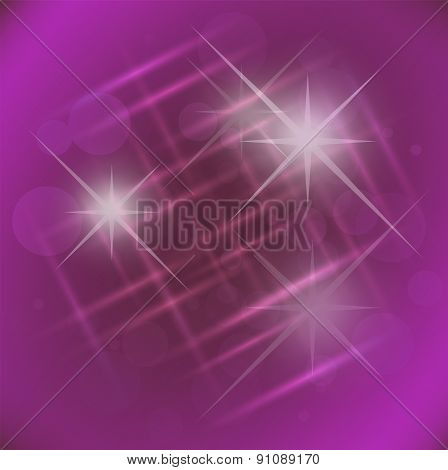 Abstract elegance Purple background with star
