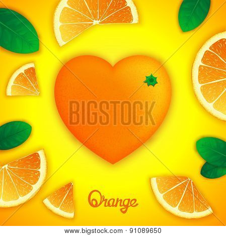 Oranges art composition
