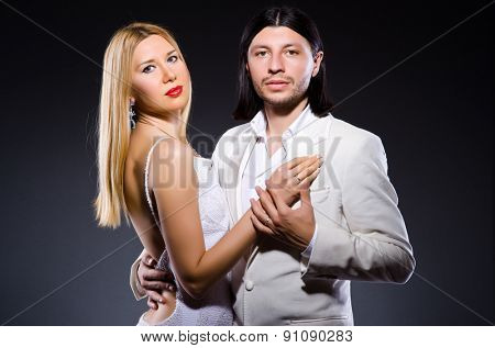 Pair of man and woman in love