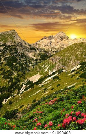 Triglav National Park at sunset - Julian Alps, Slovenia