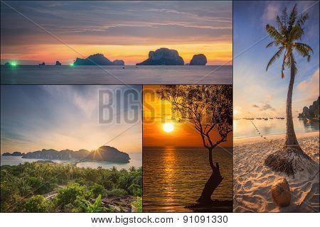 The beautiful panorama of Thailanda and islands.