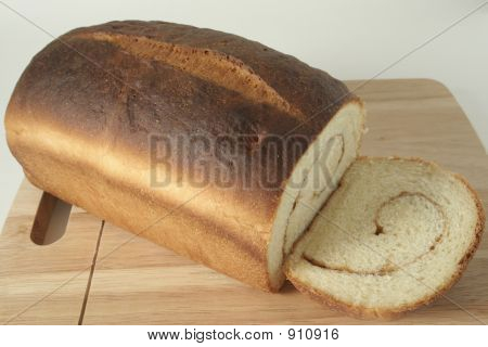 Cinnamon Bread, Baked & Sliced
