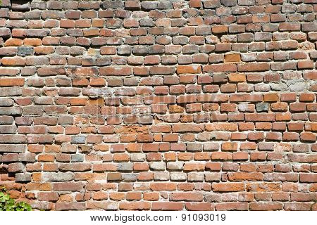 Wall Built Of Brick