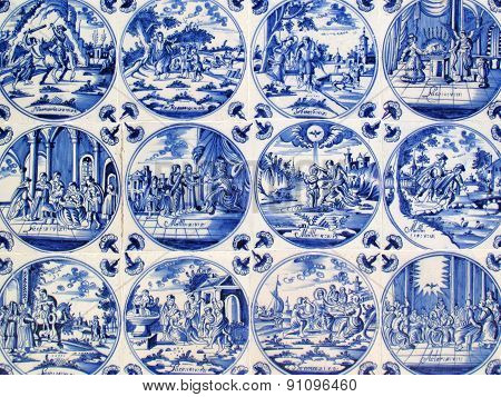 Delft wall tiles