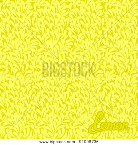Lemon abstract pattern