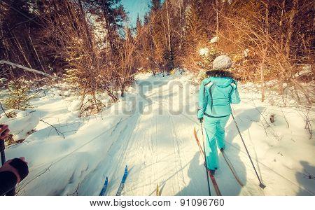 Green skier