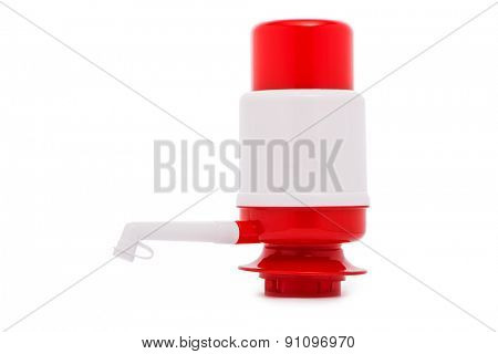 Pump for water dispenser isolated on the white