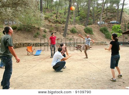 People Playing Ball