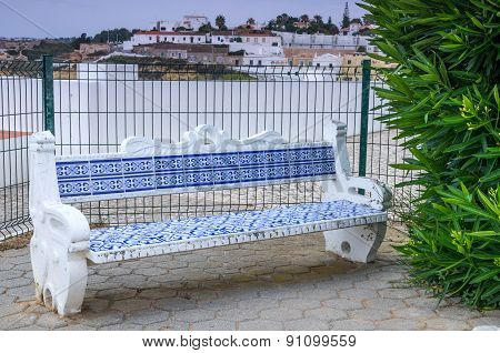 Bench With A Typical Decoration In Portugal