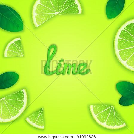Fruity lime background