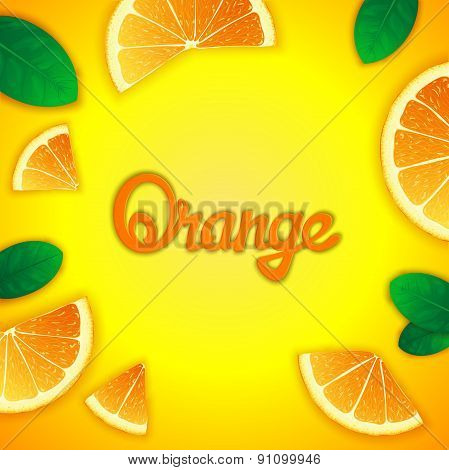 Fruity orange background