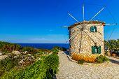 stock photo of windmills  - Zakynthos - JPG